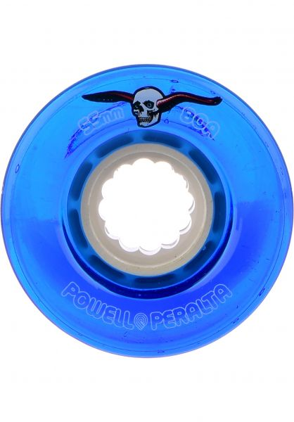Powell-Peralta Rollen Clear Cruisers 80A clear-blue Vorderansicht
