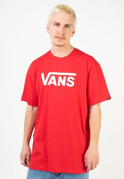 Vans T-Shirts Classic highriskred-white vorderansicht 0361788