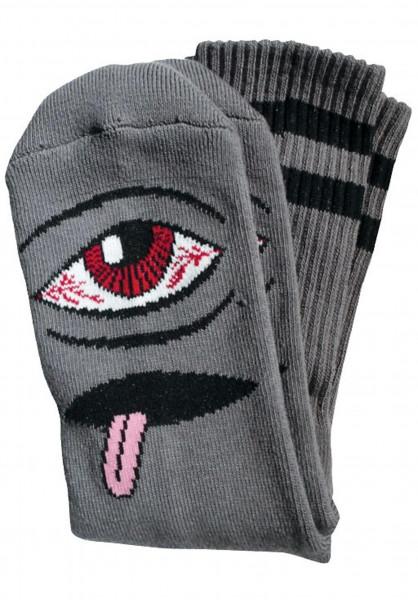 Toy-Machine Socken Bloodshot-Eye black Vorderansicht