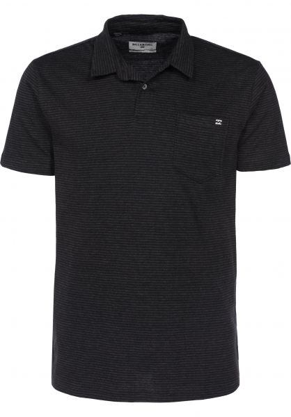 Billabong Polo-Shirts Standard Issue Polo blackheather Vorderansicht