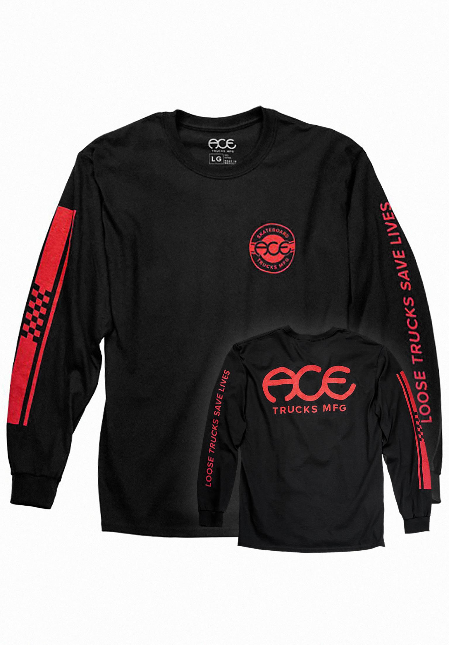 Retro Jersey Ace Longsleeves in black for Men