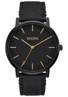 nixon-uhren-the-porter-leather-allblack-gold-vorderansicht-0810342