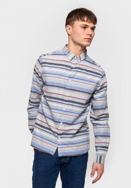 RVLT Hemden langarm 3735 Stripe grey vorderansicht 0411979