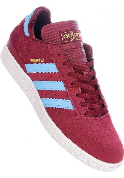 adidas-skateboarding Alle Schuhe Busenitz Pro burgundy-cleartblue-white vorderansicht 0601574