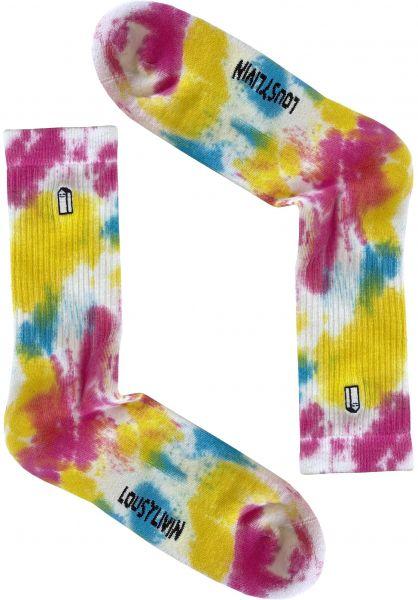 Lousy Livin Socken Street Court Tie Dye batik vorderansicht 0632334