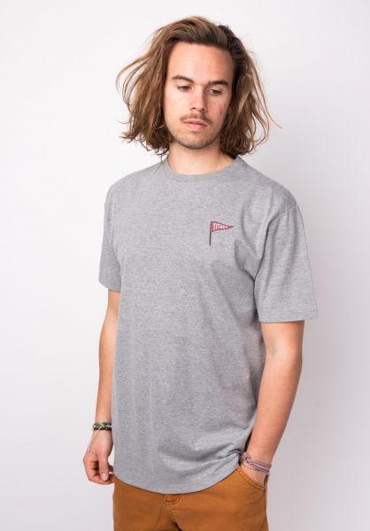 TITUS T-Shirts Ogur Backprint greymottled vorderansicht 0397379
