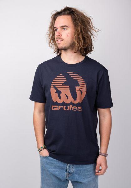 Rules T-Shirts Doves deepnavy-coral vorderansicht 0395410