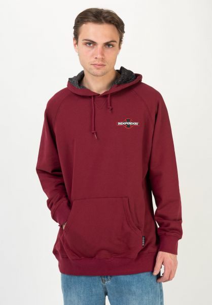 Independent Hoodies Array Raglan oxblood vorderansicht 0446048