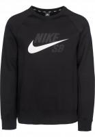 Nike SB Sweatshirts und Pullover Icon Crew GFX black-white Vorderansicht