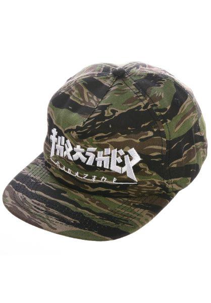Thrasher Caps Godzilla Snapback tigercamo vorderansicht 0566323