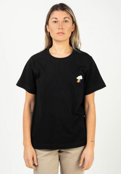 Dedicated T-Shirts Rainbow Cloud 17997 black vorderansicht 0322088