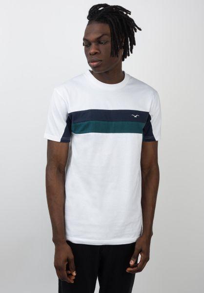 Cleptomanicx T-Shirts Faster white-darknavy vorderansicht 0397450