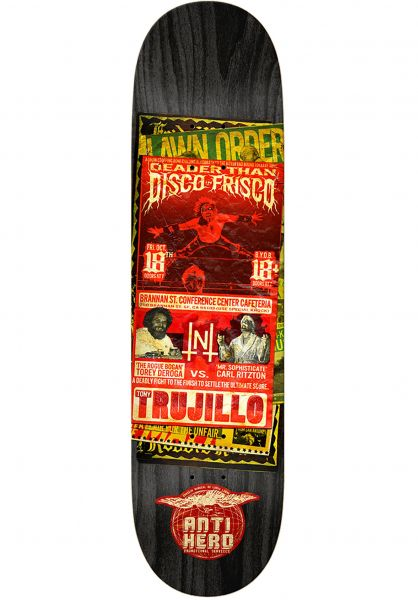Anti-Hero Skateboard Decks Trujillo Friday Night Fracas black vorderansicht 0261574