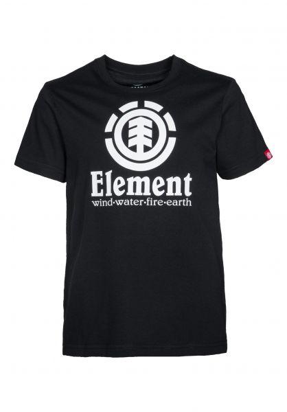 Element T-Shirts Vertical Kids flintblack Vorderansicht