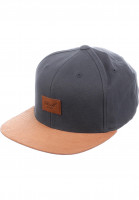 Reell-Caps-Suede-6-Panel-charcoal-Vorderansicht