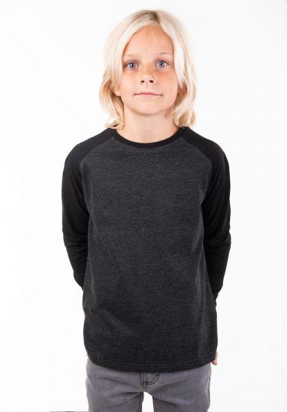 TITUS Longsleeves Rag Kids darkgreymottled-black vorderansicht 0381852