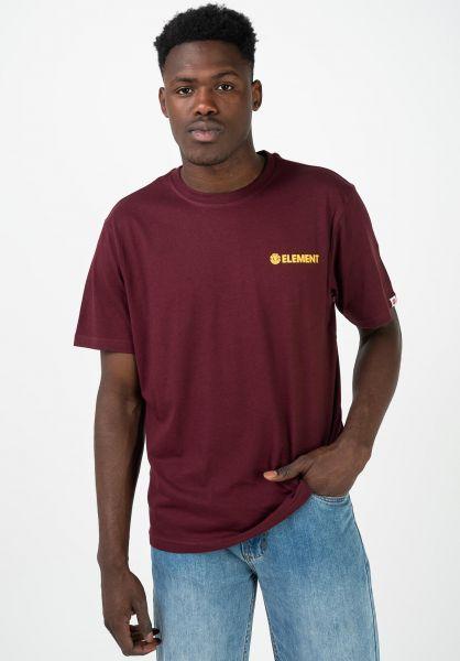 Element T-Shirts Blazin Chest vintagered vorderansicht 0320483