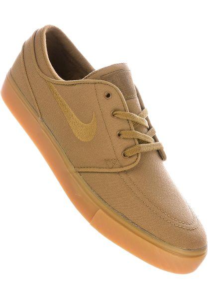 buy online f9833 56459 Nike SB Alle Schuhe Zoom Stefan Janoski CNVS goldenbeige-gum vorderansicht  0603421