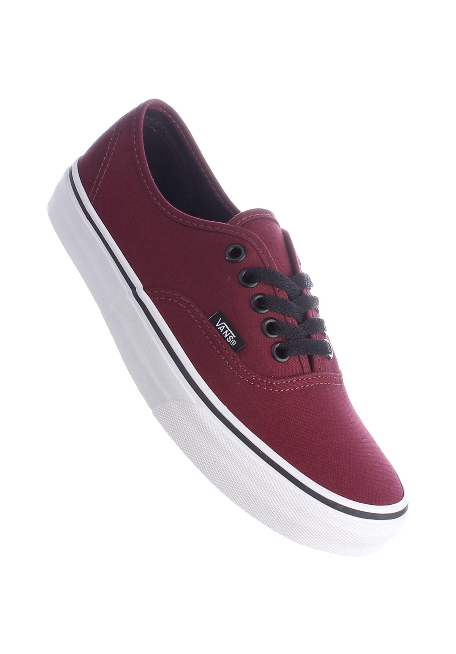 cd0548f0480a26 Authentic Classic Vans All Shoes in burgundy-white for Women