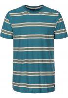 Billabong T-Shirts Die Cut Stripe Crew hydro Vorderansicht 0398779