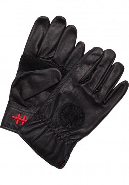Loser-Machine Handschuhe Deathgrip black Vorderansicht