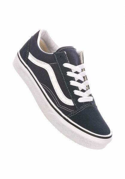 Vans Alle Schuhe Old Skool Kids indiaink-truewhite vorderansicht 0216057