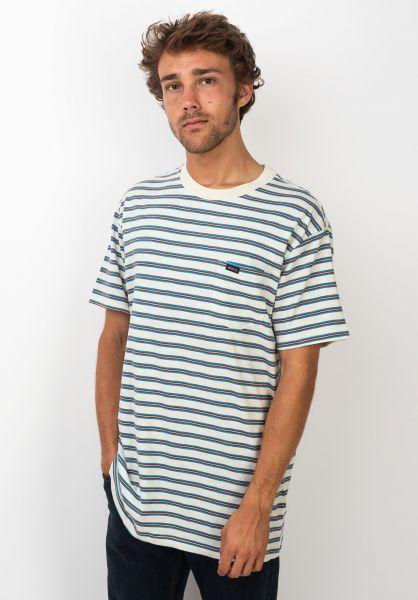 RVCA T-Shirts Vincent Stripe silverbleach vorderansicht 0320144