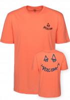 Volcom T-Shirts Chill salmon Vorderansicht