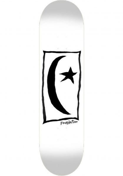 Foundation Skateboard Decks Star & Moon Square white vorderansicht 0262259