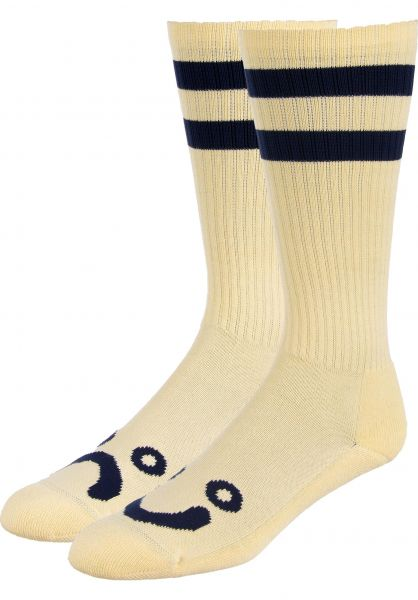 Polar Skate Co Socken Happy Sad Classic pastelyellow Vorderansicht