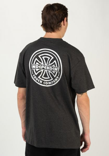 Independent T-Shirts Bauhaus Bold charcoalheather vorderansicht 0322552
