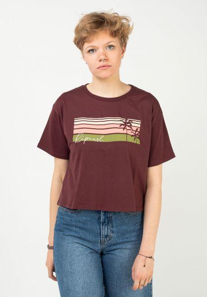 Rip Curl T-Shirts Tallows maroon vorderansicht 0322901