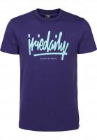 iriedaily T-Shirts Tagg Ahead darkpurple Vorderansicht
