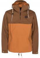 Turbokolor Windbreaker Freitag brown-orange Vorderansicht