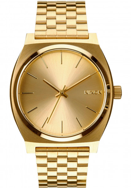 Nixon Uhren The Time Teller gold-gold Vorderansicht
