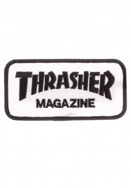 Thrasher Verschiedenes Logo Patch white Vorderansicht