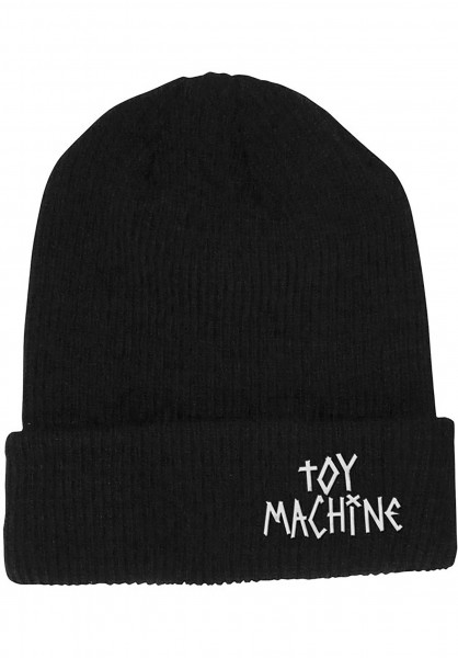 Toy-Machine Mützen Tape Logo black Vorderansicht