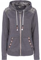 Rip Curl Zip-Hoodies Black Sands Beach black Vorderansicht