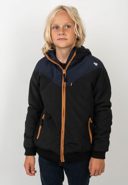 TITUS Winterjacken Four Tone Kids black-navy-camel vorderansicht 0503262
