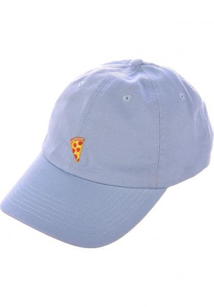 Pizza Skateboards Caps Emoji Dad Hat babyblue vorderansicht 0566034
