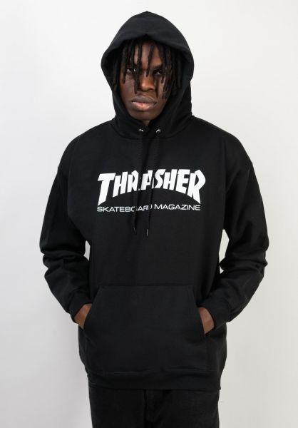 Thrasher Hoodies Skate-Mag black vorderansicht 0440766