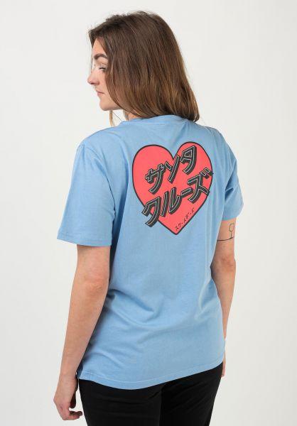 Santa-Cruz T-Shirts Japanese Heart powderblue vorderansicht 0322262