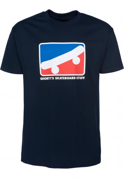 Shortys T-Shirts Skate Icon navy Vorderansicht
