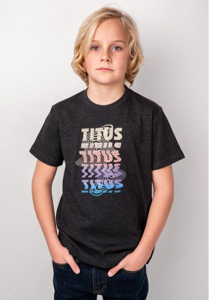 TITUS T-Shirts Scan Kids darkgreymottled vorderansicht 0398394