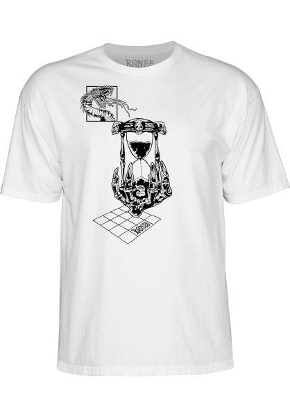 Bones Wheels T-Shirts Hourglass white vorderansicht 0320211