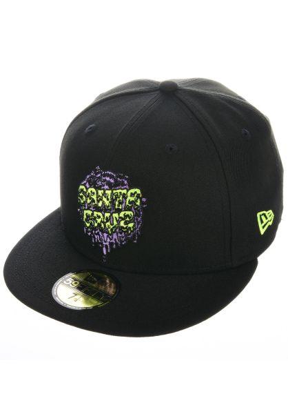 New Era Caps x Santa Cruz Slime Dot black vorderansicht 0566471