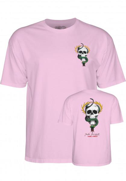 Powell-Peralta T-Shirts Mc Gill Skull & Snake pink Vorderansicht