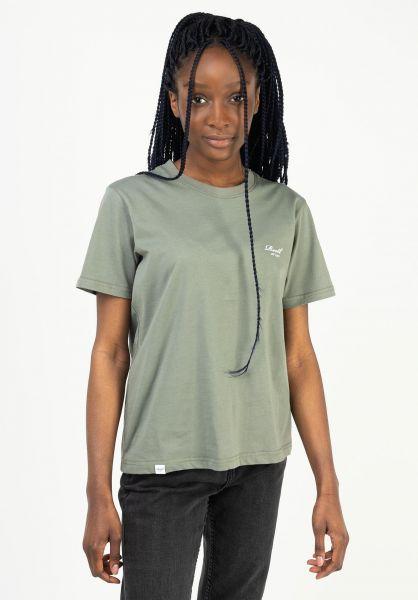 Reell T-Shirts Womens Logo greygreen vorderansicht 0324098