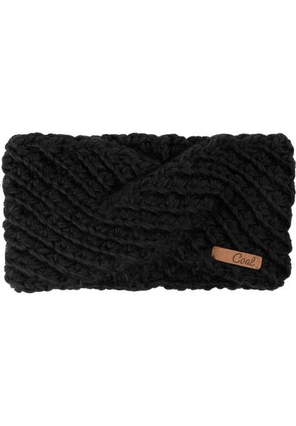 coal Mützen The Maizy Headband black vorderansicht 0572537