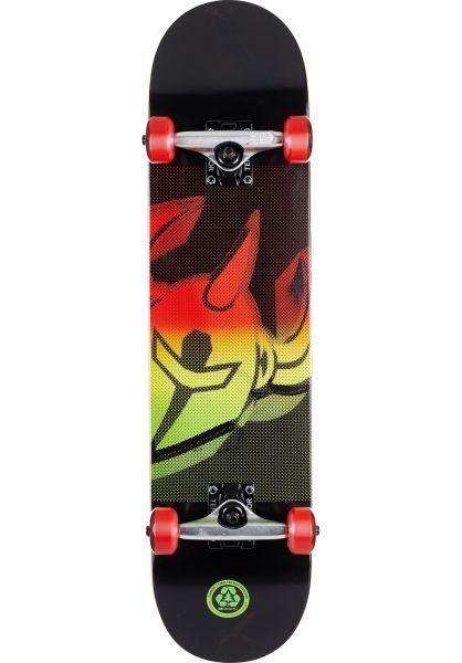 Darkstar Skateboard komplett Scrim FP black-rasta vorderansicht 0162182